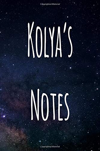 Kolya's Notes: Personalised Name Notebook - 6x9 119 page custom notebook- unique specialist personalised gift!
