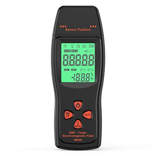 YRX Professioneller elektromagnetischer Strahlungsdetektor Dosimeter Monitor Strahlungstester, 5G 4G WiFi EMF Meter