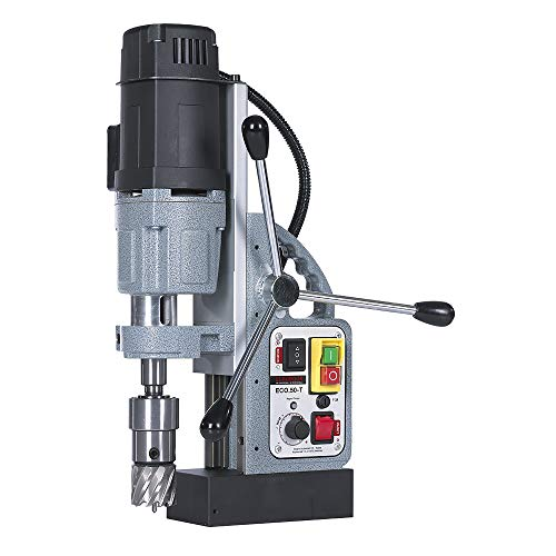 EUROBOOR Magnetic Drill Press - 1250W / 11.4A Portable Drilling Machine with 2' Annular Cut Capacity & Two Speed Gearbox - ECO.50-T