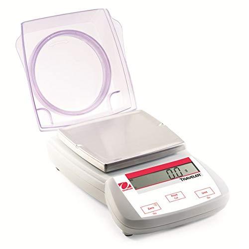 OHAUS Balanza portátil TA1501, capacidad de 1500 g, legibilidad de 0,1 g.