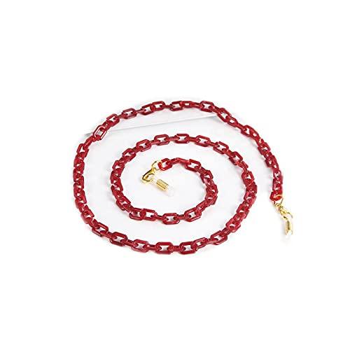 Eyeglass - Cadena de cordón para gafas, cadena acrílica con correa para gafas de sol, cordón para cuello, correa de cuerda, accesorios de regalo para mujeres y niñas