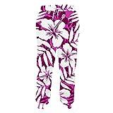 Pantalones de chándal elástico de la Cintura de impresión en 3D púrpura de...
