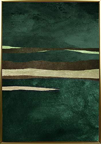 Mapa Mundi Cuadros decoración salón, Pared, Comedor, hogar, casa, Pasillo, recibidor, habitación, Dormitorio. Cuadro Decorativo Moderno con Marco. 50x70 cm Abstracto (Abstracto 2)