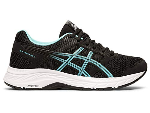 ASICS Women's Gel-Contend 5 Running Shoes, 8M, Black/ICE Mint