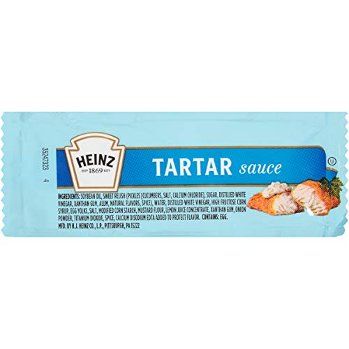 Heinz Tartar Sauce Single Serve Packet (0.4 oz Packets, Pack of 200)