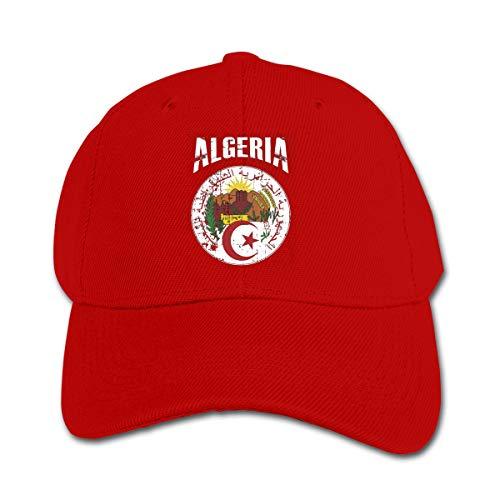 Xtb221 Algerien Fußball Kinder Baseball Cap Jungen Mädchen Kinder Hüte Gr. Einheitsgröße, rot