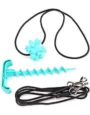 Jeanoko Cable de perro con juguete de masticar Multi‑Funcional para atar al perro, resistente al desgaste, material ABS para perro, color azul