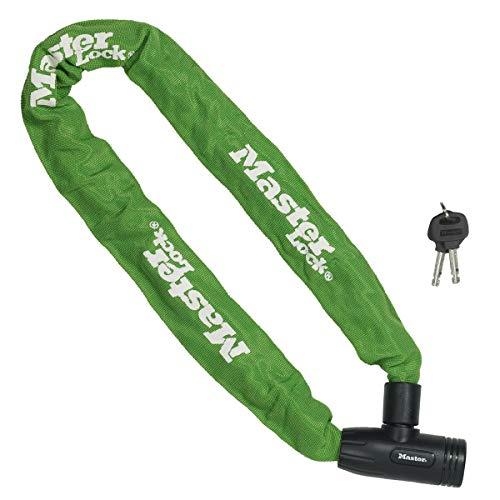 Master Lock geharde stalen ketting met geïntegreerde sleutelslot en nylon cover