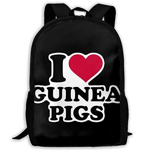JNMJK Hochleistungs-Unisex-Rucksack für Erwachsene Ich Liebe Meerschweinchen Büchertasche Reisetasche Schultaschen Laptoptasche