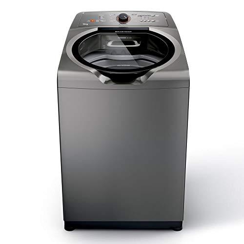 Máquina de Lavar Brastemp 15kg titânio com Ciclo Edredom Especial e Enxágue Anti-Alérgico - BWN15AT - 110V