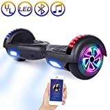 SISIGAD Hoverboard Self Balancing Scooter 6.5' Two-Wheel Self Balancing Hoverboard with Bluetooth Speaker and LED Lights Electric Scooter for Adult Kids Gift UL 2272 Certified - Gold