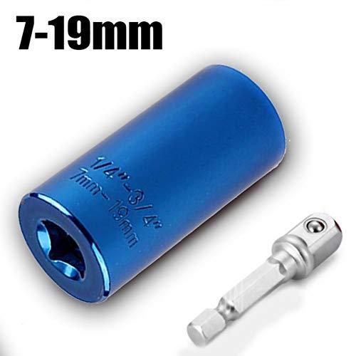 XNBCD momentsleutel, universele dopsleutelset, 7-19 mm, elektrische boormachine, ratelsleutel, handgreep