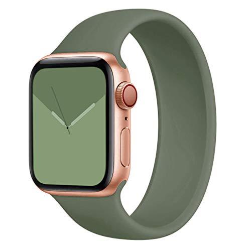 Solo Loop pulsera para Apple Watch 40mm 44mm 38mm 4mm banda elástica deportes silicona reloj para Iwatch Series SE correa