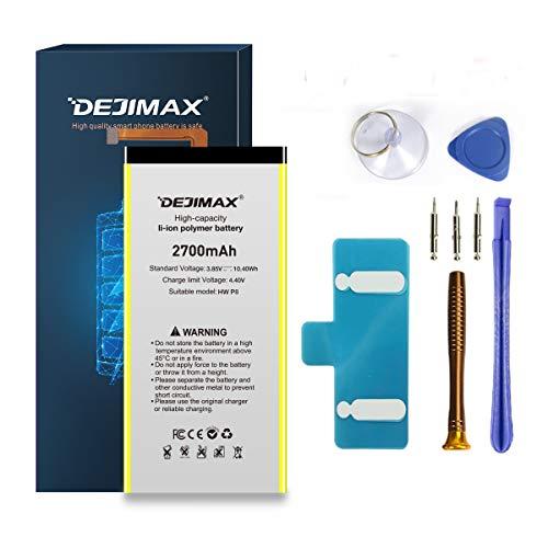 DEJIMAX 2700mAh P8 Batería Reemplazo de para Huawei P8, 2700mAh Batería de Repuesto de Iones de Litio de Alta Capacidad con Herramienta y Kit de Reparación