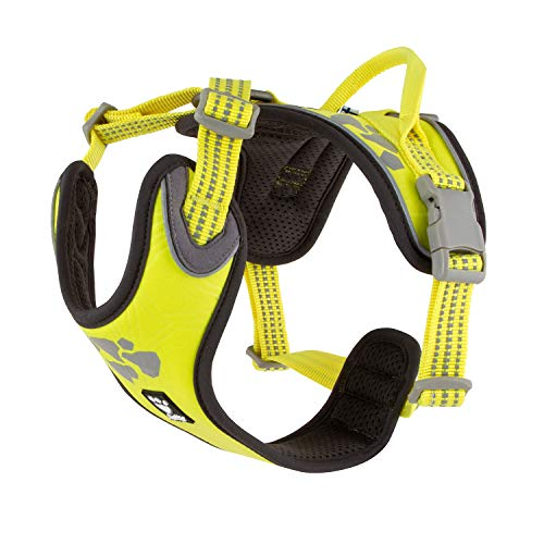 Hurtta Weekend Warrior Hundegeschirr, Neon Lemon, 61-81 cm