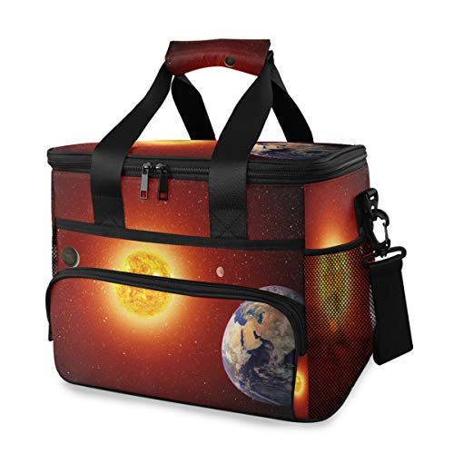 Picknick Lunch Bag schouderriem ijszak Art universeel solar systeem draagbare vrouwen koelbox