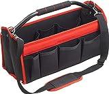 Cutting Line Werkzeugtasche 480 mm - Unbestückt - Viele Aufbewahrungsfächer - Stabiler Komfort-Tragebügel - Inkl. verstellbarem Schultergurt - Aus Polyester / Montagetasche / Werkzeugbox / 4541000