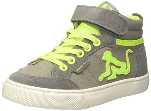 DrunknMunky Boston VITAMINIX, Sneaker a Collo Alto Bambino, Grigio (Gray Lime), 33 EU