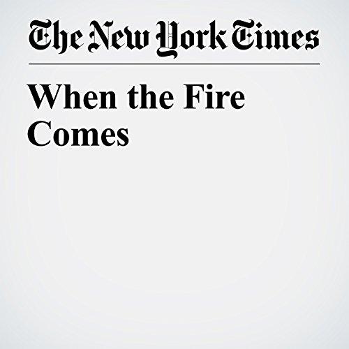 When the Fire Comes copertina