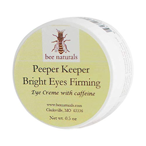 Bee Naturals Best Eye Cream Peeper Keeper Bright Eyes - Eyelid Cream Quickly Reduces Puffiness and Dark Circles - Moisturizes Your Skin - Enriched With Caffeine(Bright Eyes)
