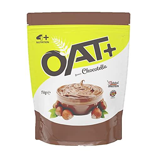 4+ NUTRITION - Oat+, Integratore Sportivo, Farina d'Avena, Fonte di Proteine, Crescita della Massa Muscolare e Riduzione della Stanchezza e Affaticamento, Gusto Chocotella, 1 kg