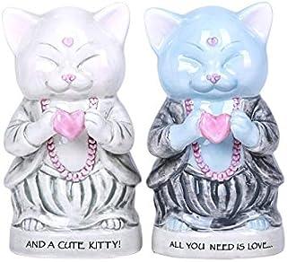 Master Meow Meditation Love Kitty Salt & Pepper Shaker Set