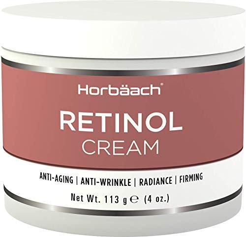 Retinol Cream for Face   Anti Aging Moisturiser   Paraben, SLS & Cruelty Free   118ml   by Horbaach