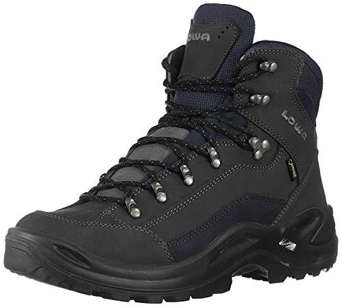 Lowa Women's Renegade GTX Mid Hiking Boot,Dark Grey/ Navy,4 UK (6 M US)(37 EU)