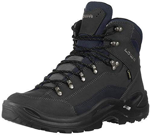 Lowa Women's Renegade GTX Mid Hiking Boot,Dark Grey/ Navy,6 M US