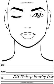 2018 Makeup Drawing Face: Eye Make Up Chart Large Notebook