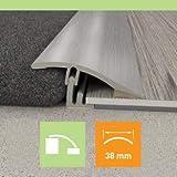 Carpet to LVT/Vinyl/Tile/Wood/Laminate Flooring Transition Door Strip Bar - Joins A Gap - Angle Vinyl Door Flooring Strip by ROYALE