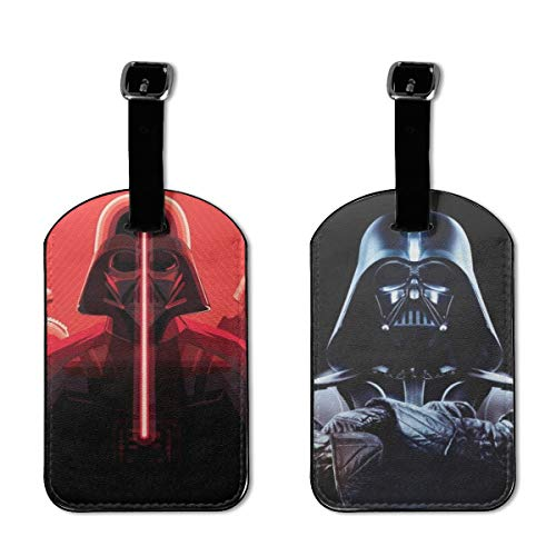 Star Wars Luggage Tags Adjustable Strap Leather Luggages Tag For Baggage Bags/Suitcases 2 Pieces - Name ID Labels Set For Travel