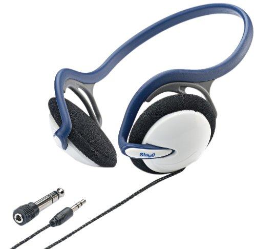 Stagg 16245 dynamischer Leicht Stereo-Kopfhörer blau