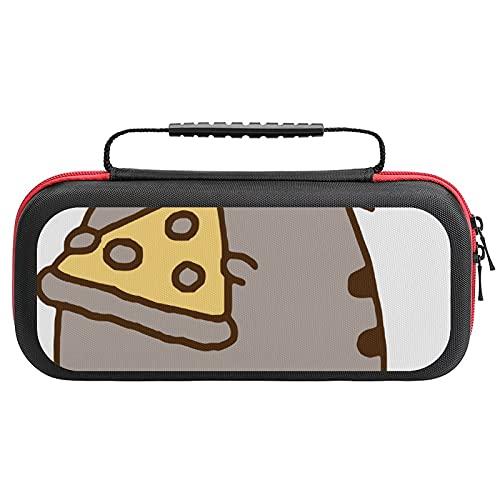 Bunte Kawaii-Katzen-Tragetasche für Schalter, Switch-Tragetasche mit 20 Spielpatronen, Reise-Tragetasche für Nintendo Switch Konsole und Zubehör