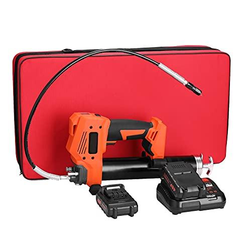 Pistola de engrase eléctrica sin cable de 20V, batería de litio recargable...