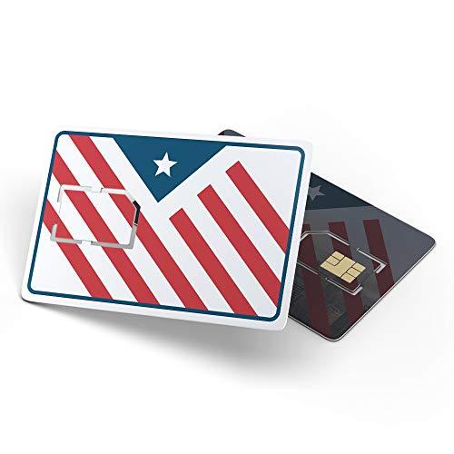USA Prepaid SIM-Karte | 30 GB Datenflatrate LTE | Telefon- und SMS-Flatrate | 30 Tage für USA-Touristen