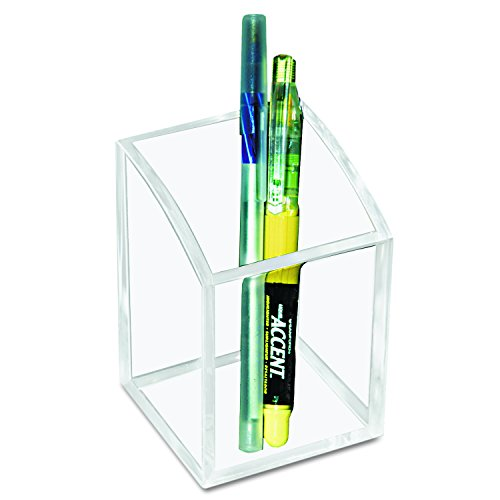Kantek Acrylic Pencil Cup, 2.8-Inch Wide x 2.8-Inch Deep x 4-Inch High, Clear (AD20)
