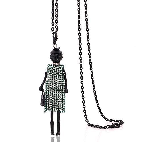 Collar Colgante Collares de moda de cadena larga joyería CZ borla collar de cristal encantos de mujer colgante de diamantes de imitación estilo gargantilla grande Navidad Día de San Valentín regalo