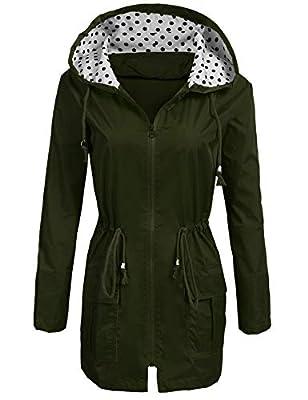 SoTeer Women's Lightweight Rain Jacket Waterproof Packable Active Outdoor Hooded Raincoat
