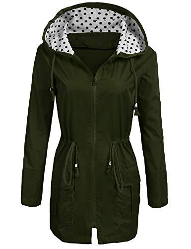 ladies hooded raincoat - 5