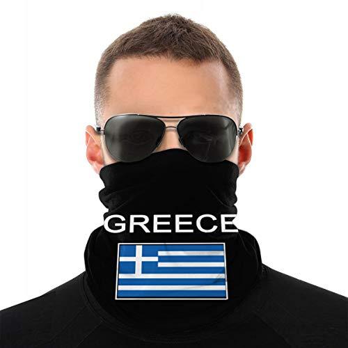 Nonebrand Halstuch mit griechischer Flagge, Unisex, multifunktional, nahtlos, weiß, Einheitsgröße