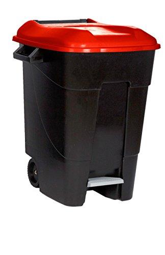 Tayg 421105 Eco - Contenedor de Residuos Eco con Pedal, color Rojo, 100 L
