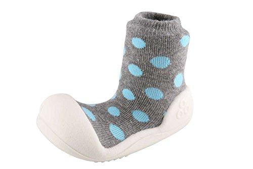 Attipas , {Chaussures premiers pas pour bébé (garçon) Multicolore Multicolore, Multicolore - Gris, 19 EU