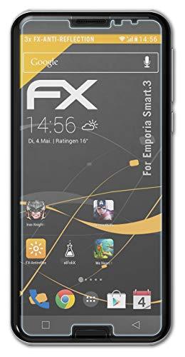 atFolix Panzerfolie kompatibel mit Emporia Smart.3 Schutzfolie, entspiegelnde & stoßdämpfende FX Folie (3X)