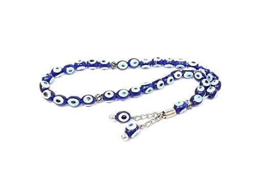 Gebetskette - Tesbih Tasbih Tespih Misbaha Subha 33 Perlen - Nazar Boncuk Blaues Auge