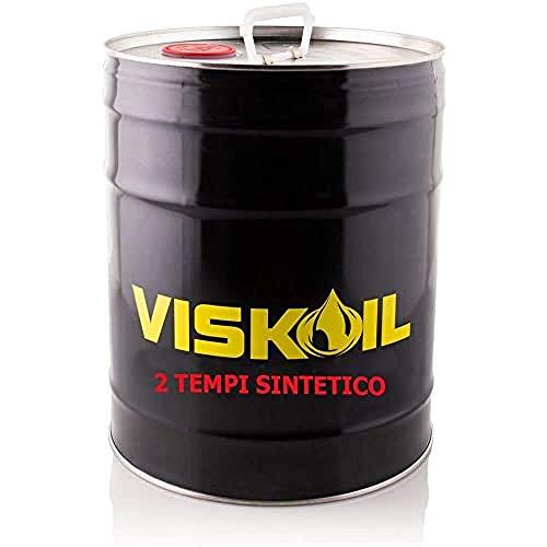 Lubrificanti Viskoil VISK2TSINT20LT 20 Litros Aceite 100% sintético para mezcla para motores de 2 tiempos