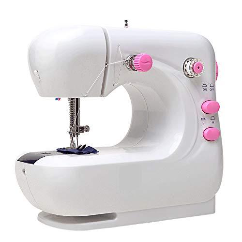 Xyun mini-naaimachine voor dikke en meerlagige stoffen, 2 snelheden, naaimachine, robuust, eenvoudig te gebruiken met uitbreidingsplank