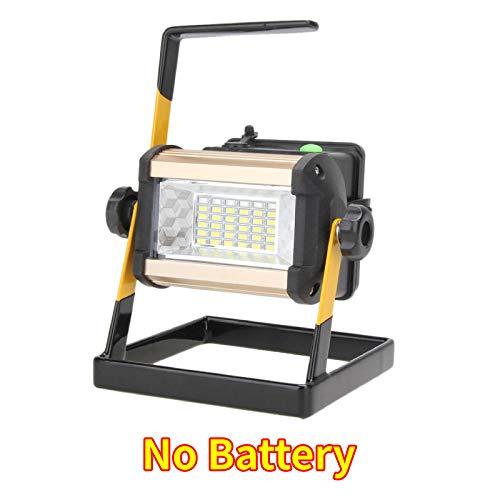 JieMiTe Wiederaufladbare LED-Flutlicht wasserdichte IP65-Campinglampe mit Stecker 5 Beleuchtungsmodi-50w_No_Battery