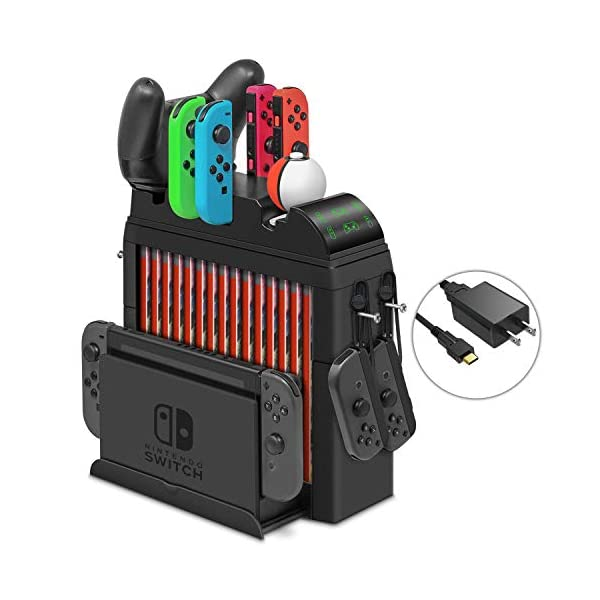 Charging Dock for Nintendo Switch Joy-Cons, Pro Controller and Poke Ball Plus Controller,...