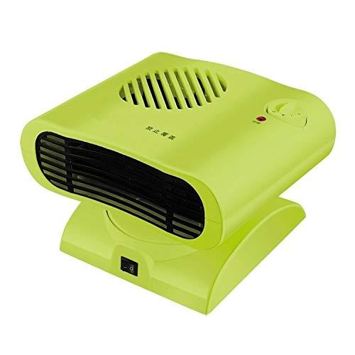 Luoshan Mini Mover la Cabeza de radiador de calefacción eléctrica Caliente Calentador de Aire del Ventilador (Verde) (Color : Green)